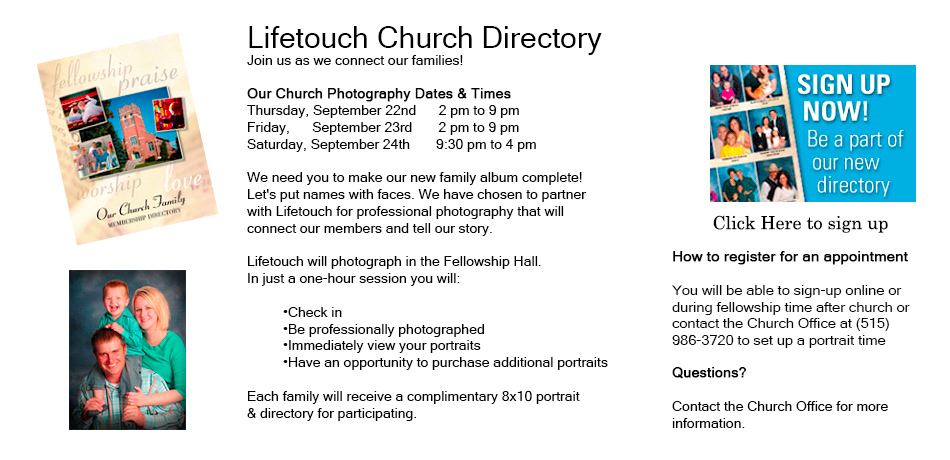Church lifetouch photo page